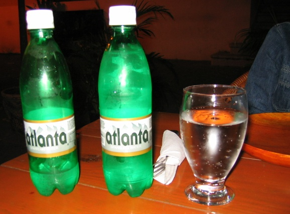 "Bottle of ""Atlanta"" brand sparkling water"