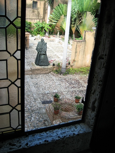 A view from the second floor of the Museo de las Casas Reales (Museum of the Royal Houses)